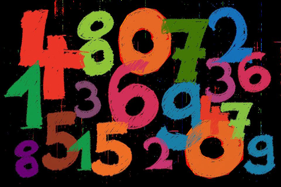 nakreslené číslice